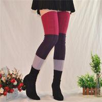 Extra Long Stretch Rib Knit High Thigh Over the Knee Socks Winter Leg Warmer