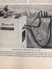 Ephemera 1930s Picture Diathermy Apparatus Stanley Cox & Co M481
