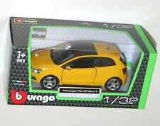 Burago - VW VOLKSWAGEN POLO GTi Mark 5 (Yellow) Model Scale 1/32