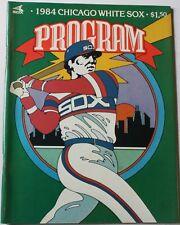 1984 Chicago White Sox Program Baines Fisk Ron Kittle Greg Walker