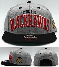 Chicago Blackhawks New American Needle Blockbuster Gray Red Era Snapback Hat Cap