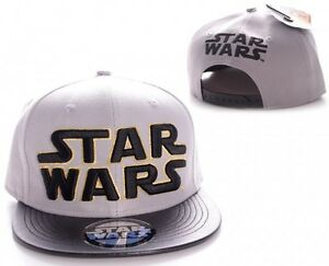 Star Wars Gold Logo Baseball Hip Hop Cap Kappe Mütze Snapback Grau Schwarz