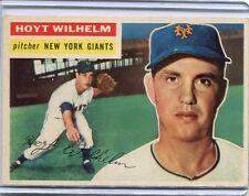 1956 Topps Baseball Card Hoyt Wilhelm New York Giants  Near Mint # 307
