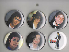 Michael Jackson Set of 6 Pins (set 1) Very Collectible
