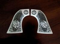 Ivory Ruger Super Blackhawk custom engraved Grips Scroll Dead Man Hand Cards