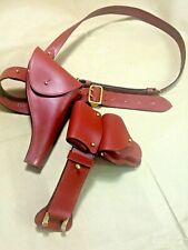 RCMP Canada Police Sam Brown Belt, Shoulder Strap, Holster, Ammo Handcuff Pouch