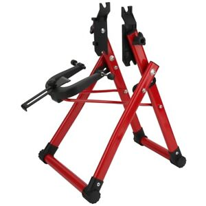 Red Simple Bicycle Wheel Truing Stand Home Bike Repair Maintenance Support Tool