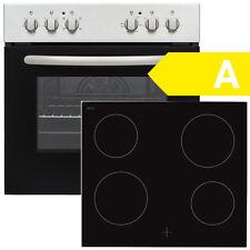 Einbauherd Set SCHOEPF EHS 5F / EEK:A / Edelstahl / Glaskeramikkochfeld / Umluft