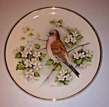 Prinknash Gloucestershire Pottery Linnet Bird Design 17 cm Decorative Plate .