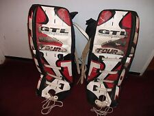 "TOUR GTL GRAVITY TEC LITE LEXUR 400,30"" SENIOR GOALIE PADS USED, STILL DECENT"