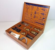 Vintage Industrial CRANE Dial-Ese Parts Kit 8-0010 with Metal Organizer Case NEW