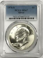 1976-S  Silver Eisenhower Ike Dollar PCGS MS-67