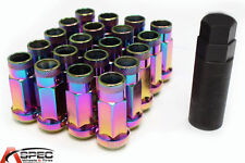 Varrstoen VT48 12x1.25 Neo Chrome Open End Lug Nuts (20 PC/1Key) Fits Honda Bmw