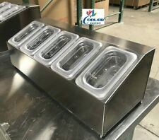 Stainless Steel Condiment Station Salsa Sauces Caddy 5 Container Nsf Commercial