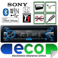 HONDA CIVIC EP3 Sony 55 X 4W CD MP3 USB BLUETOOTH STEREO AUTO & Nero Fascia KIT