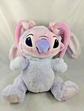 "Disney Lilo & Stitch Purple Easter Rabbit Plush 12"" Pink"