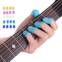 12pcs  Celluloid Guitar Thumb Picks Finger Picks Plectrum Band Liparite