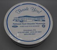 Vintage National Ford Chrysler Plymouth Uniontown Pennsylvania Cookie Tin