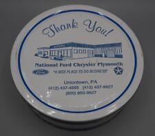 Vintage National Ford Chrysler Plymouth Uniontown Pennsylvania Cookie Tin