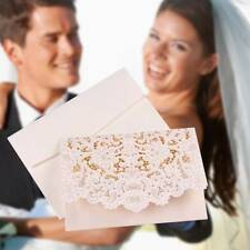 1PC Sample Personalized Laser Cut Wedding White Invitation Cards Free Envelopes
