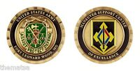 """ARMY FORT LEONARD WOOD ASSIST PROTECT DEFEND MSC MP 1.75"""" CHALLENGE COIN"""