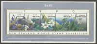 1990 New Zealand~Native Orchids~Unmounted Mint M/S~Stamp Set~ UK Seller~