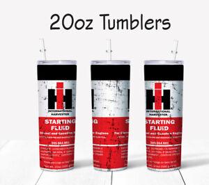 30 oz Tumbler - International Harvester Starting Fluid Design - SHIPS FREE!!!