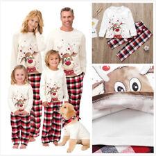 Familia Pijama Pijama que empareja feliz Alce Navidad Vario Tamaño ropa de dormir Lote