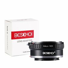 Beschoi Lens Adapter Nikon Nikkor F Mount Lens to Sony NEX E-Mount Camera Body