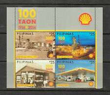 Philippine Stamps 2014 Shell Philippines 100 Years, Complete Set MNH