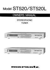 Marantz ST520 Tuner Owners Manual
