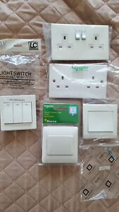 Schneider Simplicity Varilight Electrical White Socket Light Switches Bundle £40