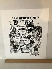 "SIGNED VON FRANCO ""IN MEMORY OF ED ""BIG DADDY"" ROTH POSTER  LARGE SIZE 18"" X 21"""