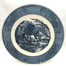 Currier and Ives Dinner Plate Royal ~ The Old Grist Mill