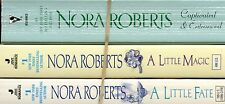 LOT OF 3 PB~NORA ROBERTS~ CAPTIVATED & ENTRANCED~ A LITTLE MAGIC~ A LITTLE FATE~