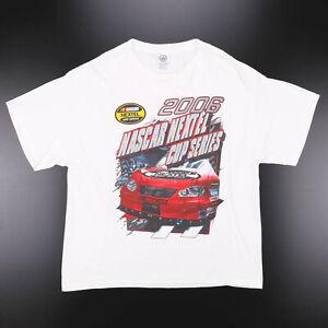 Vintage DELTA Nascar White 00s Short Sleeve T-Shirt Mens XL