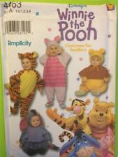 Simplicity Sewing Pattern 4463 Childrens Winnie The Pooh Costumes Size 1/2-4 UC