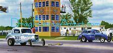 Jack Ditmar vs. Gene Mori Indy 1966 Drag Racing Art