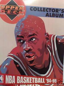 NBA BASKETBALL 94-95 FULL BASE SET X210 + BINDER