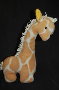 "Giraffe Mop Mane Tail Brown White Eden Plush 14"" Baby Toy Lovey"