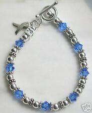 Silver Child Abuse Awareness / colon cancer bracelet