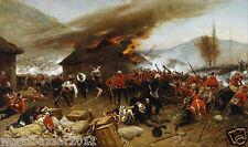 BATTAGLIA di rorke`s DRIFT GUERRA ANGLO ZULU WARRIOR British Army Militare Africa