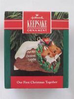 1990 Hallmark Keepsake Ornament Fox First 1st Christmas Together QX4883 NIB