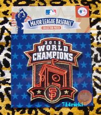 Official 2012 MLB World Series Champions Clock Tower Patch San Francisco Giants