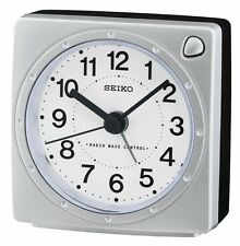 Seiko Alarm Clock Radio Wave Control Choice of colours QHR201S/K/L UK Seller