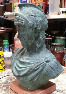 "Statue Sculpture Ornament Home Décor Figurine Greek Italian Alexander Great 12"""