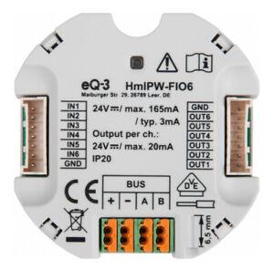 Homematic IP Wired IO Modul Unterputz – 6-fach HmIPW-FIO6