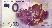 BILLET 0 ZERO EURO SOUVENIR  TOURISTIQUE  MUSEE TOULOUSE LAUTREC 2017-1