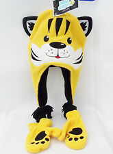 Tiger Fleece Critters Hat And Glove Set Yellow w/Black Lining Winter