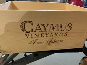 Caymus Special Selection 2016 Wine Crate Box Empty 6/750 With Lid.